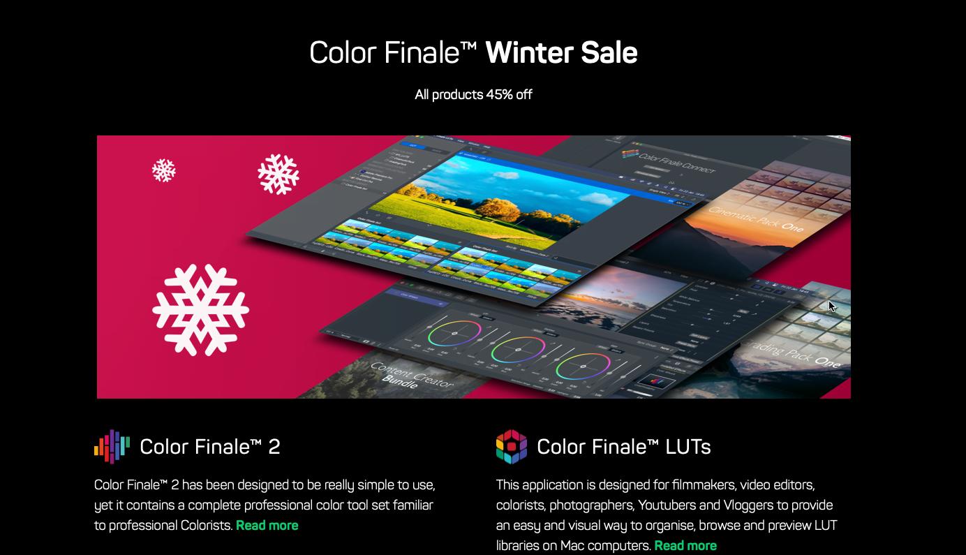 Color Finale e Color Finale LUTS al 45% di sconto!